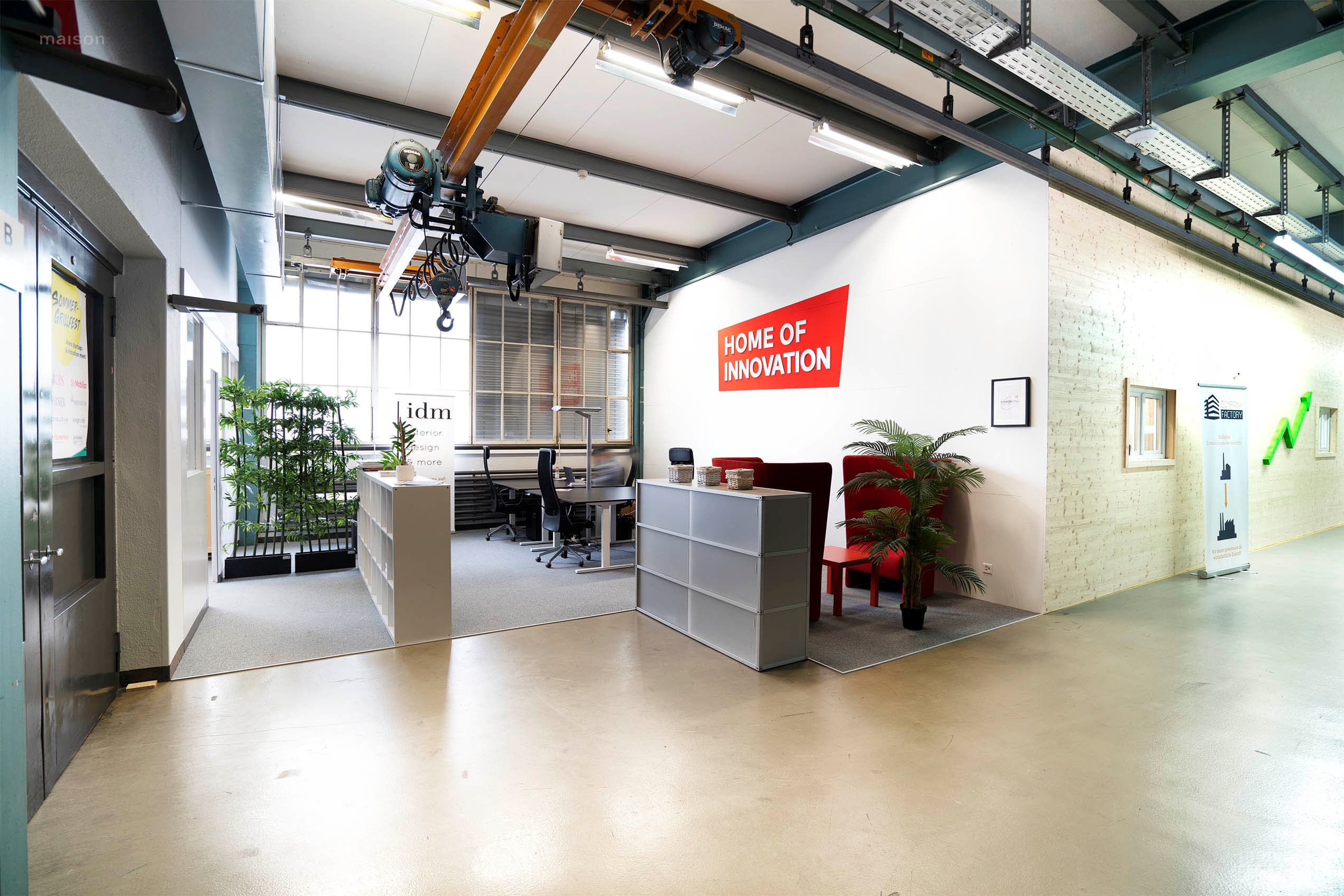 Foto Coworking Arbeitsplatz Home of Innovation Winterthur